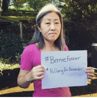 Hillary Clinton, Memes, and Moms: Bernie forever  Hillary In November Lynda is a Berner and a suburban mom in Allegheny County, PA. She is voting for Hillary Clinton and Katie McGinty.   #FlipTheSenate #BernieForever #HillaryInNovember