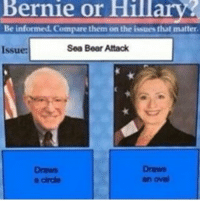 I love spongebob memes. meme memes dankmeme dankmemes ayylmao ayy dumb stupid funny true truth yo elections trump donaldtrump tedcruz berniesanders elect president Obama bush toofunny funnyshit atheists atheisthumor spongebob: Bernie or Hillary  Be informed. Compare them on the issues that matter  Sea Bear Attack  Issue:  Draws  Draws  an oval  circle I love spongebob memes. meme memes dankmeme dankmemes ayylmao ayy dumb stupid funny true truth yo elections trump donaldtrump tedcruz berniesanders elect president Obama bush toofunny funnyshit atheists atheisthumor spongebob