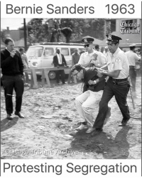 Alive, Bernie Sanders, and Black Lives Matter: Bernie Sanders 1963  Protesting Segregation I'm currently watching a documentary called 'The Sixties' on Netflix. They dedicated one episode to MLK Jr. and it was powerful. I'm convinced that if he were alive and young again today, he would be marching for Bernie. I am also convinced that modern republicans and establishment democrats, many of which are my family, would stand strongly against the civil rights movement. As I watched MLK give his last speech before his death I cried openly, emotion swept over me is I realized how little has changed. It's 2016 and we lock up and enslave millions of black folks, force them to work for pennies on the hour, strip them of their right to vote and leave their kids to grow up in ghettos... No decent work to be found. It's 2016 and voter suppression among Americans is rampant, and yet our leaders say nothing. It's 2016 and global warming is nearly irreversible, yet our leaders say nothing. We are very fortunate to have Bernie, and we continue to fight for his cause, but we must continue that fight and take it further than just his presidency. We need constant pressure on all leadership and constant awareness for all citizens. I am no example of how to go about this, but I do feel strongly about it and am thankful to have surrounded myself with those who do have the means and the will to fight for what is right. 🙏🏻 ––––––––––––––––––––––––––– 👍🏻 Turn On Post Notifications! 📝 Register To Vote 📢 Raise Awareness For Our Revolution 💰 Donate to Bernie ––––––––––––––––––––––––––– FeelTheBern DemDebate BernieSanders Bernie2016 Hillary2016 GopDebate Obama HillaryClinton President BernieSanders2016 election2016 trump2016 Vegan BlackLivesMatter SanDiego Vote California Cali BernieOrBUST Primary WhichHillary NeverHillary HillaryForPrison Losangeles DropOutHillary Fresno Sacramento oakland sanfrancisco –––––––––––––––––––––––––––