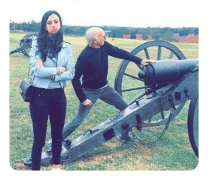 Bernie Sanders and Alexandria Ocasio-Cortez on the front lines of the Civil War. January 1862. Colorized.: Bernie Sanders and Alexandria Ocasio-Cortez on the front lines of the Civil War. January 1862. Colorized.