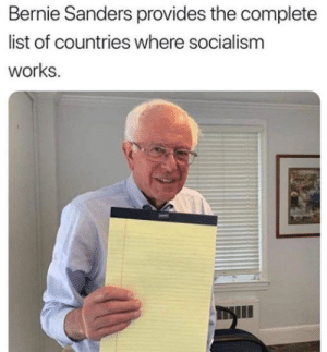 America, Bernie Sanders, and Meme: Bernie Sanders provides the complete  list of countries where socialism  works. I saw this meme and I came to discover that America should not have universal healthcare