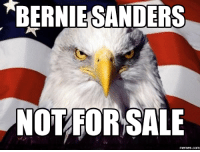meme.com: BERNIEKSANDERS  NOT FOR SALE  memes com