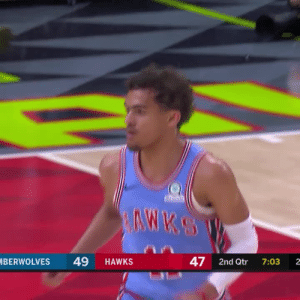 Memes, Game, and Games: BERWOLVES 49 HAWKS  47 2nd Qtr 7:03 2 Trae Young still on 🔥 36 PTS, 10 AST, 8 REB vs the Wolves!  He's averaging 30 PTS, 9.2 AST, 4.5 REB, 4.6 3PT over his last 5 games!!  3rd 30 PTS / 10 AST game, only rookies with more in last 35 years are MJ (5) & Steph (5)!!!   https://t.co/ZDDNZhqDhj