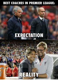 They've been fantastic.: BEST COACHES IN PREMIER LEAGUE:  EXPECTATION  FOOTBALL  GALAXY  REALITY They've been fantastic.