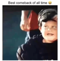 Funny, Best, and Time: Best comeback of all time Classic clip of the day 😂👀