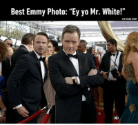 """Breaking Bad at Emmys...It's cooking time!!: Best Emmy Photo: """"Ey yo Mr. White!""""  VIA 9GAG.COM Breaking Bad at Emmys...It's cooking time!!"""