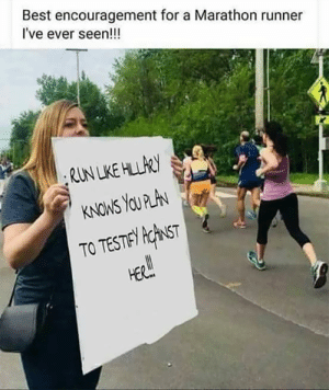 Click, Funny, and Memes: Best encouragement for a Marathon runner  I've ever seen!!!  TO TESTE KhST This is funny...  There Is PANIC In The Diabetes Industry! Big Pharma executives can't believe their eyes. SEE WHY CLICK HERE ►► http://u-read.org/no-diabetes
