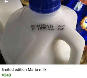 Dank, Memes, and Target: BEST  EY  AR105052  03041  limited edition Mario milk  240 meirl by EliteWarrior284 FOLLOW HERE 4 MORE MEMES.