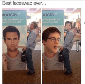 Funny, Best, and Game: Best faceswap ever...  roactiv  t-  iba , Pactiv  rter Acne Medicine  remium Skincare  er Acne Medicine  mium Skincare  game  chänger  game  changer Faceswap via /r/funny https://ift.tt/2MDXKes