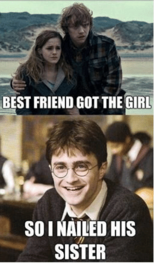 Harry Potter Memes - Ginny Weasley - Wattpad: BEST FRIEND GOT THE GIRL  SOINAILED HIS  SISTER Harry Potter Memes - Ginny Weasley - Wattpad