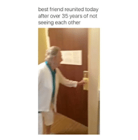 Memes, 🤖, and Friends Reunited: best friend reunited today  after over 35 years of not  seeing each other Tag your bestie 😭💕 . . Tags by @HashMeApp love instagood fun cute happy smile life photooftheday lol beautiful friends selfie lmao me picoftheday fashion comedy memes cool haha humor girl hilarious meme amazing laugh like instalike instadaily instamood