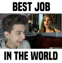 Memes, Sugar, and 🤖: BEST JOB  f @Gabe Erwin  IN THE WORLD would you wanna be a sugar baby? 😂 • follow me @gabeerwin for more • 👇🏻 TAG A FRIEND 👇🏻