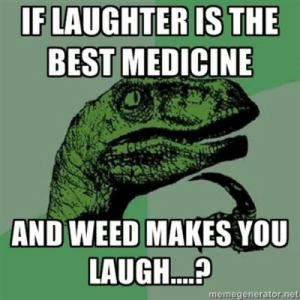 Huh, Weed, and Best: BEST MEDICINE  AND WEED MAKES YOU  LAUGH...  memegenerator.net huh huh