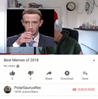 Memes, Best, and Link: Best Memes of 2018  No views  Share  Download  Save  PolarSaurusRex  183K subscribers  SUBSCRIBE i went over my favourite memes of this year 🗿 link in my bio or type in my channel: PolarSaurusRex if you wanna watch. Thanks for your support