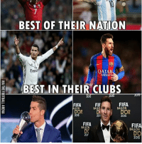 Cristiano Ronaldo & Leo Messi ❤: BEST OF THEIR NATION  Em  AIRWAY  BEST IN THEIR CLUBS  2015  2015  FIFA  FIFA  FIF  BALLON  ALLON  DOR  DOR  2015  2013  2015  FIFA  FIFA  BALLON  BALLON  DC  DO  20  2015 Cristiano Ronaldo & Leo Messi ❤