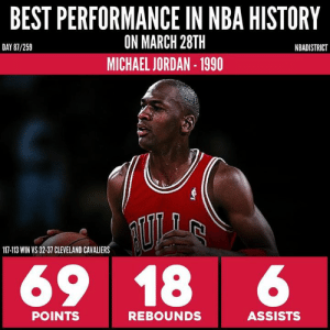 the latest 5f124 f5c8b BEST PERFORMANCE IN NBA HISTORY ON MARCH 28TH MICHAEL JORDAN ...
