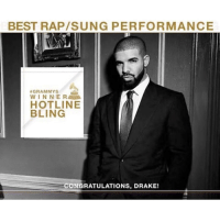 """Drake wins """"Best Rap-Sung Performance"""" at the Grammys for HotlineBling 👏 @champagnepapi WSHH: BEST RAP/SUNG PERFORMANCE  A GRAMMYS  WINNER  HOTLINE  BLING  CONGRATULATIONS, DRAKE! Drake wins """"Best Rap-Sung Performance"""" at the Grammys for HotlineBling 👏 @champagnepapi WSHH"""