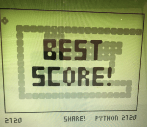 i don't even know if the guy who said i couldn't get 2000 in this snake game is around no more. but 9 months later, i finally did it.: BEST  SCORE!  SHARE PYTHOn 2120 i don't even know if the guy who said i couldn't get 2000 in this snake game is around no more. but 9 months later, i finally did it.