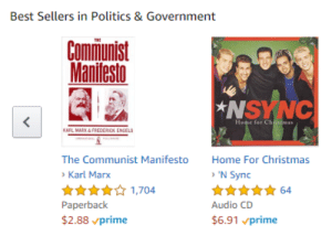Nsync were true comrades: Best Sellers in Politics & Government  Cominunist  Manifesto  NSYNC  <  Home for Christmas  KARL MARX&FREDERCKx ENCELS  The Communist Manifesto  Home For Christmas  'N Sync  Karl Marx  64  1,704  Paperback  $2.88 prime  Audio CD  $6.91 vprime Nsync were true comrades