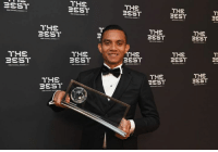 The award winners were happily posing with their trophies after the 2016 FIFA Football Awards. #TheBest: BEST  THE  THE  BEST  THE  BEST  THE  THE  THE  THE  eEST  BEST  THE  THS  BEST  BEST  HE  THE  BEST  BEST  THE  THE  BEST  BEST The award winners were happily posing with their trophies after the 2016 FIFA Football Awards. #TheBest