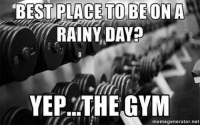 You guessed it. . @doyoueven 👈🏼 THIS. IS. IT. Your FREE SHIPPING ends TONIGHT! ALL ORDERS 🌏 link in BIO ✔️: BEST TO BE ON A  PLACE RAINY DAY?  YEP, THE GYM  memegenerator.net You guessed it. . @doyoueven 👈🏼 THIS. IS. IT. Your FREE SHIPPING ends TONIGHT! ALL ORDERS 🌏 link in BIO ✔️