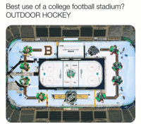 Double Tap If You Agree!: Best use of a college football stadium?  OUTDOOR HOCKEY  HAPPV NEW VEAR 2019  UNKIN Double Tap If You Agree!