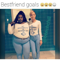 Bestfriend goals  MY  MY  BEST FRIEND  ST FRIEND  IS  IS  HICK AFI  SKINNY AF Yesss these girls are my heroes 🙌🏻💅🏻 go follow my babe @factsandjokes @factsandjokes @factsandjokes 🔥🔥🔥