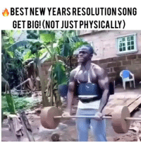 "Memes, New Year's Resolutions, and Skinny: BESTNEW YEARSRESOLUTION SONG  GET BIG! (NOT JUSTPHYSICALLY) He said, ""No skinny shit, no Abercrombie & Fitch model shit... GET BIG!"" This should be your 2017 New Years resolution. That you ""get big"" in all 4 pillars of the good life: health, wealth, love, and happiness... #getbig #newyears #newyearsresolutions"