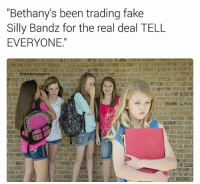 """Was it only my Middle School that banned Silly Bandz? Rightfully so too. So much blood was shed over a rubber band in the shape of a pony 😢: """"Bethany's been trading fake  Silly Bandz for the real deal TELL  EVERYONE.""""  estockphotogasm Was it only my Middle School that banned Silly Bandz? Rightfully so too. So much blood was shed over a rubber band in the shape of a pony 😢"""