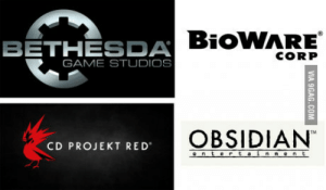 Throw these 4 in a room, give good budget and reasonable deadline. Ill play whatever they come up with.: BETHESDA  GAME STUDIOS  CORP  OBSIDIAN  CD PROJEKT RED Throw these 4 in a room, give good budget and reasonable deadline. Ill play whatever they come up with.
