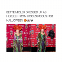 queen of halloween: BETTE MIDLER DRESSED UP AS  HERSELF FROM HOCUS POCUS FOR  HALLOWEEN  ONYRP  ONYRP  DNYR ANYRP  ONYRP  NYRP queen of halloween