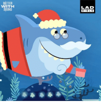 Christmas, Dank, and Shark: BETTER  WITH  SOUND  LAD  BIBLE First there was baby shark, now just in time for Christmas... 'Santa Shark'! 😂🦈  Super Simple