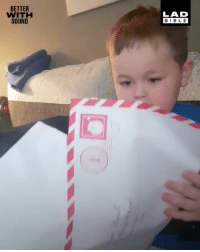 Memes, Bible, and Santa: BETTER  WITH  SOUND  LAD  BIBLE This little lad had a pretty unique reaction to his letter from Santa! 💩😂