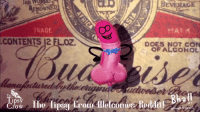 Funny, Alcohol, and Doodle: BEVERAGE  ENOWNEL  TRADE  .CONTENTS |2 FLOZ  12 FLOZ.  DOES NOT CON  OF ALCOHOL  Bhall  The  psy  Crow Iho lipsj kromillelcon  @bloodedeble e ρ