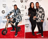 RayJ and PrincessLove at the reception celebrating the collaboration with Raytronics Scoot Bike and MCM (📷: @atlpics): Beverly Hills  MCM  RAYTRONIK  Hi  Beverly RAYTRONIKS  RAYRONIKs  Beverly Hill  MOM  YTRON  Beverly Hills  MCM  Prince W  N  Beverly Hills  Prince W  /ATLpics. RayJ and PrincessLove at the reception celebrating the collaboration with Raytronics Scoot Bike and MCM (📷: @atlpics)