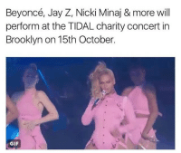 beyonce gif: Beyoncé, Jay Z, Nicki Minaj & more will  perform at the TIDAL charity concert in  Brooklyn on 15th October.  GIF