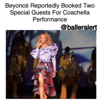"Beyoncé Reportedly Booked Two Special Guests For Coachella Performance -blogged by @BenitaShae ⠀⠀⠀⠀⠀⠀⠀⠀⠀ ⠀⠀⠀⠀⠀⠀⠀⠀⠀ If you were unsure if Beyoncé was still performing at Coachella after her pregnancy announcement, this might ease your mind. ⠀⠀⠀⠀⠀⠀⠀⠀⠀ ⠀⠀⠀⠀⠀⠀⠀⠀⠀ Beyoncé has reportedly booked two special guests to join her onstage. According to TMZ, arrangements have been made and the artists were well aware of her pregnancy before her public announcement. ⠀⠀⠀⠀⠀⠀⠀⠀⠀ ⠀⠀⠀⠀⠀⠀⠀⠀⠀ The special guests have not been revealed, but sources say one artist is a Roc Nation artist while the other is a ""close"" associate from another label. Both have apparently wiped their schedules clean to perform alongside Beyoncé. ⠀⠀⠀⠀⠀⠀⠀⠀⠀ ⠀⠀⠀⠀⠀⠀⠀⠀⠀ Who do you think the special guests are?: Beyoncé Reportedly Booked Two  Special Guests For Coachella  Performance  @balleralert Beyoncé Reportedly Booked Two Special Guests For Coachella Performance -blogged by @BenitaShae ⠀⠀⠀⠀⠀⠀⠀⠀⠀ ⠀⠀⠀⠀⠀⠀⠀⠀⠀ If you were unsure if Beyoncé was still performing at Coachella after her pregnancy announcement, this might ease your mind. ⠀⠀⠀⠀⠀⠀⠀⠀⠀ ⠀⠀⠀⠀⠀⠀⠀⠀⠀ Beyoncé has reportedly booked two special guests to join her onstage. According to TMZ, arrangements have been made and the artists were well aware of her pregnancy before her public announcement. ⠀⠀⠀⠀⠀⠀⠀⠀⠀ ⠀⠀⠀⠀⠀⠀⠀⠀⠀ The special guests have not been revealed, but sources say one artist is a Roc Nation artist while the other is a ""close"" associate from another label. Both have apparently wiped their schedules clean to perform alongside Beyoncé. ⠀⠀⠀⠀⠀⠀⠀⠀⠀ ⠀⠀⠀⠀⠀⠀⠀⠀⠀ Who do you think the special guests are?"