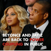 Beyonce, Jay, and Jay Z: BEYONCE AND JAY-  ARE BACK TO  COUPLING  POWER  IN PUBLIC Beyoncé & Jay-Z are back to running the town ... and getting a free night from the kids 👶👶👶 beyonce jayz tmz