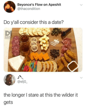 Dank, Date, and MeIRL: Beyonce's Flow on Apeshit  @thacondition  Do y'all consider this a date?  DANK  MEMEOLOGY  @elj0  the longer I stare at this the wilder it  gets meirl