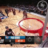 Replay of Paul George's 3 point shootout performance, which has not been edited or doctored in any way   (Video via @Bballforeverfb) #JBL3PT https://t.co/mqm2lUJUw0: Bf  RACK 2 RACK1  PAUL GEORGE  POINT3  NTEST  47.9  FIRST ROUND Replay of Paul George's 3 point shootout performance, which has not been edited or doctored in any way   (Video via @Bballforeverfb) #JBL3PT https://t.co/mqm2lUJUw0