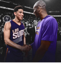 """Devin Booker looks a lot like the Mini Mamba...   Kobe Bryant and Devin...   - Both had fathers that played in the NBA - Both were the youngest players in their Draft class - Both were drafted with the 13th Pick  - Both are 6 foot 6 Shooting Guards  - Both have had 60+ Point scoring games  Kobe was drafted in 1996. Devin Booker was born in 1996.  Not only that, Devin Booker signed with Nike Basketball because of his love for the Mamba, and even wears Kobe's on court.   And to get even weirder. Exactly 1 year ago, the Phoenix Suns played the LA Lakers and Kobe Bryant signed a pair of his game work Kobe 11's and wrote """"Be Legendary"""" on them.   1 year later, Devin Booker became the youngest player to ever drop 70 points in a game. #MambaMentality   #RockoMamba24 #WWLG4L: BF  SUIT Devin Booker looks a lot like the Mini Mamba...   Kobe Bryant and Devin...   - Both had fathers that played in the NBA - Both were the youngest players in their Draft class - Both were drafted with the 13th Pick  - Both are 6 foot 6 Shooting Guards  - Both have had 60+ Point scoring games  Kobe was drafted in 1996. Devin Booker was born in 1996.  Not only that, Devin Booker signed with Nike Basketball because of his love for the Mamba, and even wears Kobe's on court.   And to get even weirder. Exactly 1 year ago, the Phoenix Suns played the LA Lakers and Kobe Bryant signed a pair of his game work Kobe 11's and wrote """"Be Legendary"""" on them.   1 year later, Devin Booker became the youngest player to ever drop 70 points in a game. #MambaMentality   #RockoMamba24 #WWLG4L"""