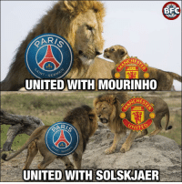 Memes, Champions League, and United: BFC  ARI  CHES  IN  GERM  UNITED WITH MOURINHO  CHES  VITED  VN  WT- GER  UNITED WITH SOLSKJAER Agree? Almost 2 weeks for the Champions League Round of 16! 🙌⚽️🔥