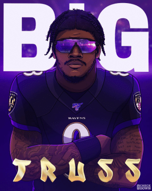 WOO-WOO  (via @thecheckdown) https://t.co/kTN4Q0roor: BG  ENS  RAVE  NFD  RAVENS  but gesus  Themd pr  not wathout  but in hus  and among  TRUSS  CHECK  DOWN WOO-WOO  (via @thecheckdown) https://t.co/kTN4Q0roor
