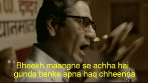 Thackeray' trailer triggers a meme fest on twitter - Check out the ...: Bheekh maangne se achha hai  gunda banke apna haq chheenna Thackeray' trailer triggers a meme fest on twitter - Check out the ...