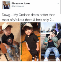 """""""I follow @kalesalad and u should too"""" - Kendall Jenner and Jesus: Bhreanne Joves  @bhreeeeee  Dawg... My Godson dress better than  most of y'all out there & he's only 2  Supre """"I follow @kalesalad and u should too"""" - Kendall Jenner and Jesus"""