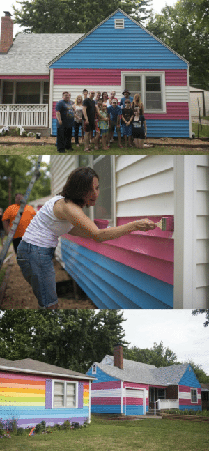 bi-trans-alliance:  Westboro Members Now Live Next To House Painted Colors Of Transgender Flag  : bi-trans-alliance:  Westboro Members Now Live Next To House Painted Colors Of Transgender Flag