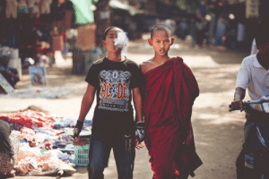 The Monk and His Brother. Love this picture.: BIACK ICE  POINEEP The Monk and His Brother. Love this picture.