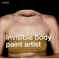 Makeup, Memes, and Paint: BIBİC  Invisible body  paint artist Serbian makeup artist Mirjana Kika Milosevic can knot her tummy and even reveal her skeleton. The amazing optical illusions are created using body paint and clever makeup application. Milosevic is one of YouTube's most watched names and her creations can take hours to complete. opticalillusion makeup illusion amazing bodyart bbcnews