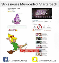 Memes, Video, and Audio: Bibis neues Musikvideo Starterpack  How It Is (Wap Bap..) (inkl.  Sticker bogen)  81 AUF TRENDS  HOW ITIS  Bibi H-How it is (wap bap...) lofficial  Video]  19 Mio Aurule  74  Format Audio-CD  255 Tod.  1 Mio.  Teilen Hinzutugon  Bibis Beauty DABONNIEREN  Palace  4 Mio. Abonnenten  EUR 4,99  VSTARTERPACKSDE  STARTERPACKS DE  STARTERPACKSDE1 Jeder macht Video drüber 😂😂