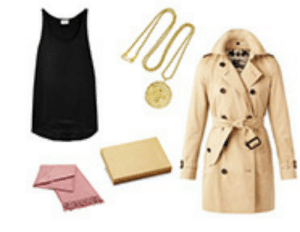 bibleslut:  steal her style: running lady frame denim tank top ($180) burberry mid-length trench coat ($1,595) kenneth jay lane pendant necklace ($40) elvang classic pink throw ($145) cardboard box ($2): bibleslut:  steal her style: running lady frame denim tank top ($180) burberry mid-length trench coat ($1,595) kenneth jay lane pendant necklace ($40) elvang classic pink throw ($145) cardboard box ($2)